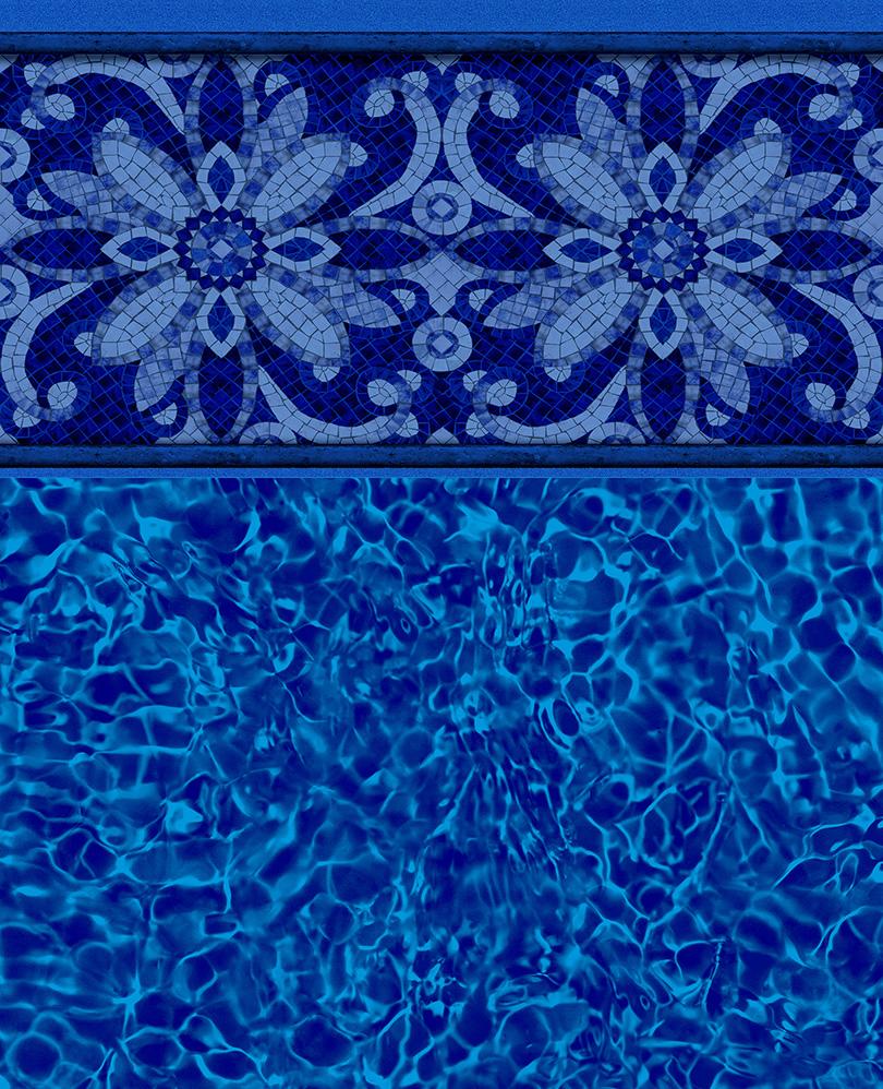 Agra Tile Brilliant Bahama Bottom Liner