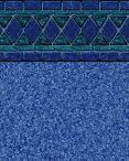 Blue Lancashire Tile Pebble On Blue Bottom Liner