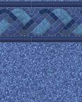 Blue Raleigh Tile Pebble On Blue Bottom Liner