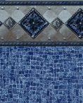 Cacapon Tile Indigo Wave Bottom Liner