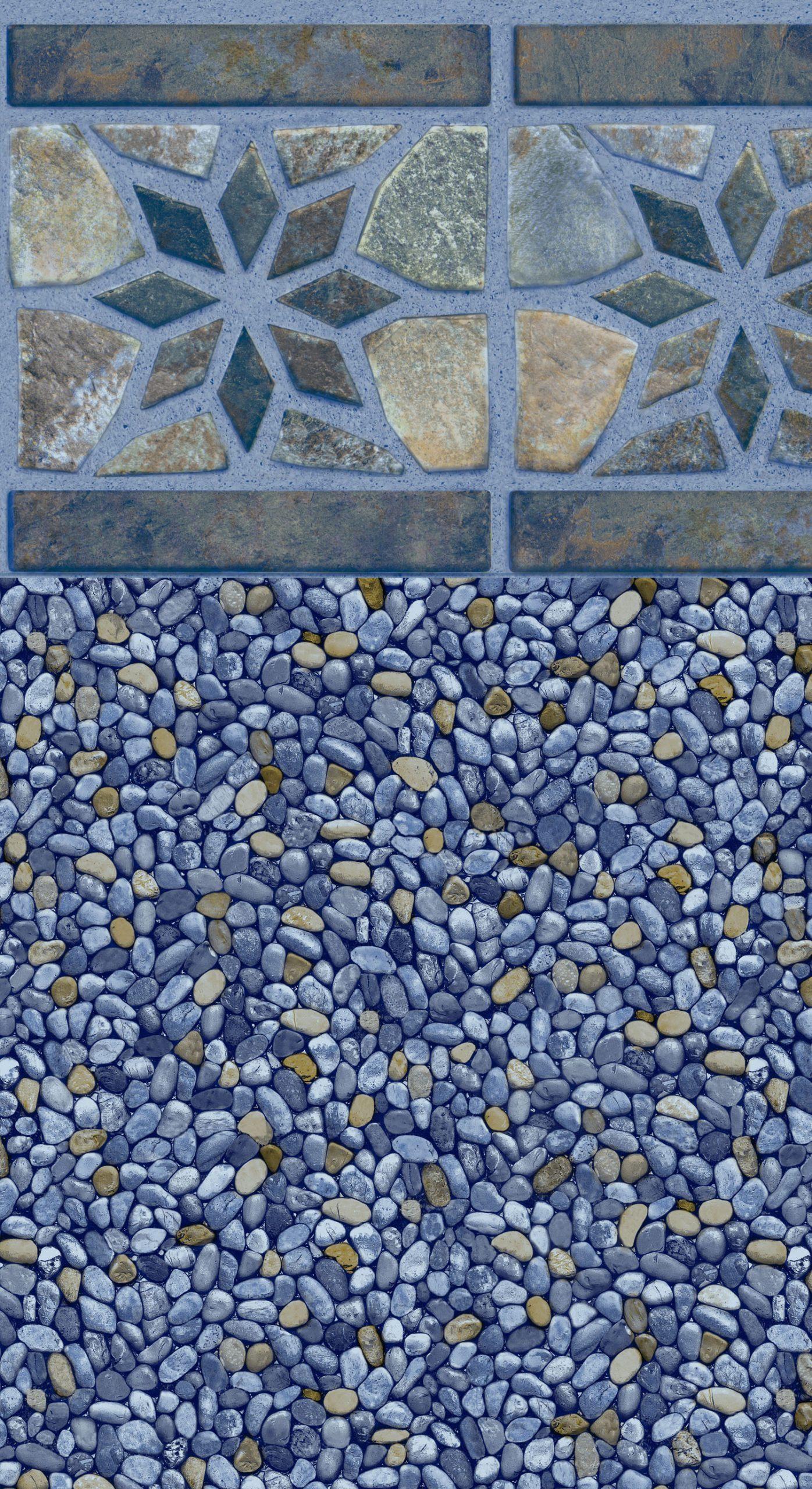 River Star Tile Blue Del Caribe Bottom Liner