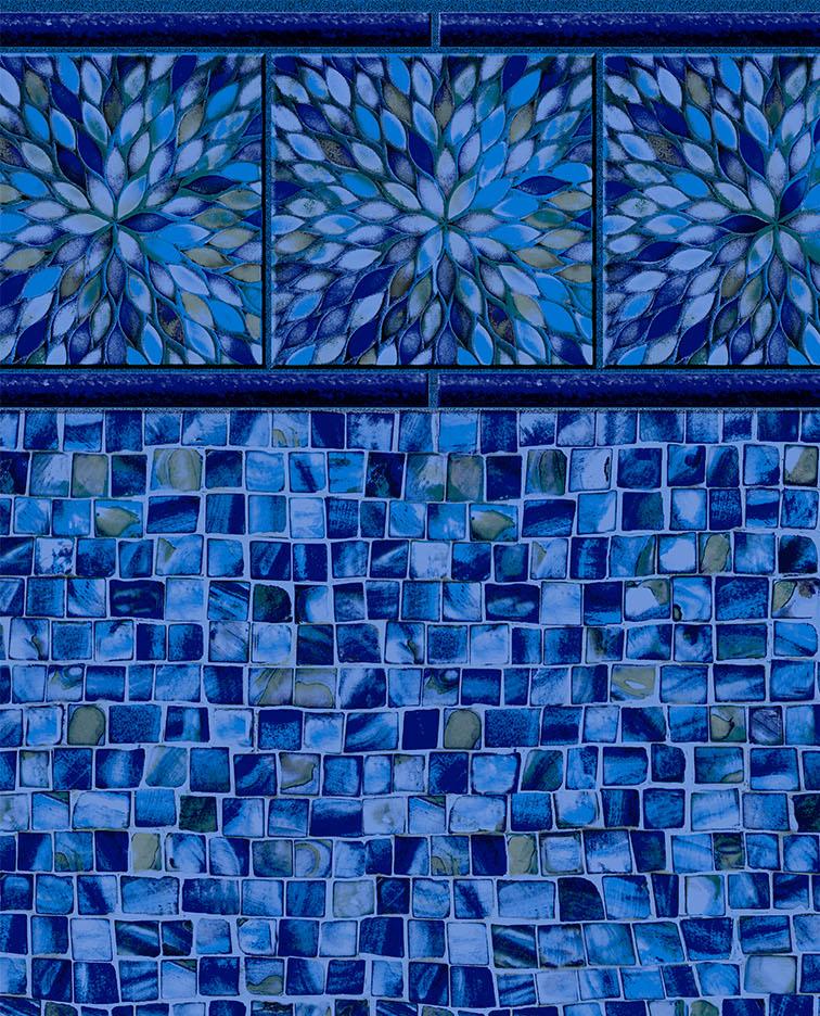 Sunburst Cobalt Tile - Oyster Bay Cobalt Liner